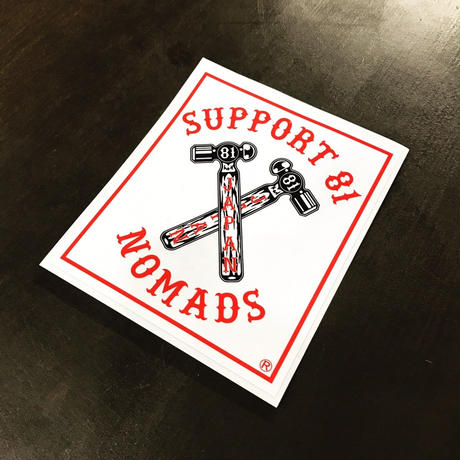 SUPPORT STICKER CROSS HAMMER