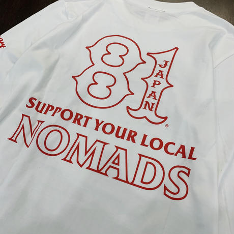 SUPPORT 81 SYL NOMADS JAPAN L/S Tee_White