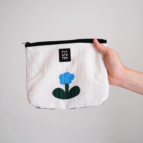 お花ジャガードポーチ|pot and tea