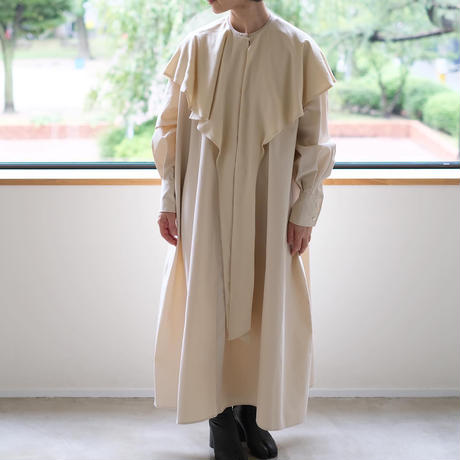 Shirts dress with cape