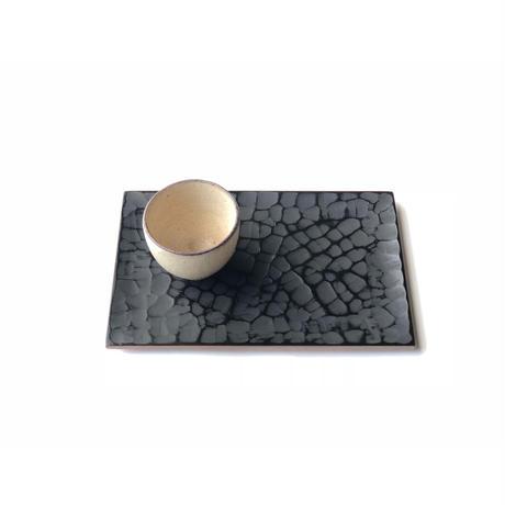 茶菓盆 のみ目象谷塗 25.5cm