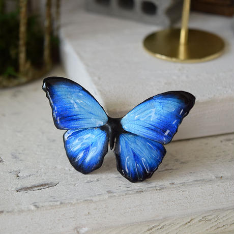 メネラウスモルフォのスタッドピアス BLUE.col 2Ssize(片耳用)
