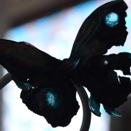 蝶のマグネット メネラウスモルフォ腐蝕鉱石 Msize