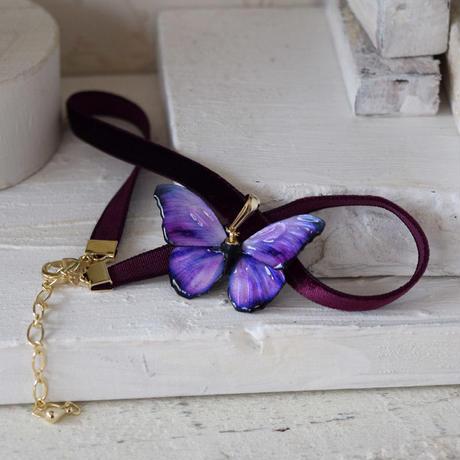 メネラウスモルフォのチョーカー  lavender.col 3sSize