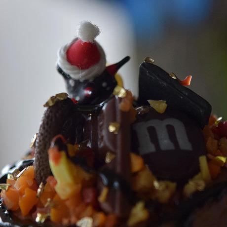 チョコケーキに埋もれる夢を見る琉球浅葱斑サンタ
