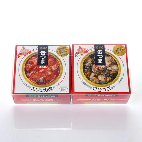 【割引送料込み】K&K 缶つま 北海道限定 2種の珍味缶詰 和商店セレクション クリアカートン入り