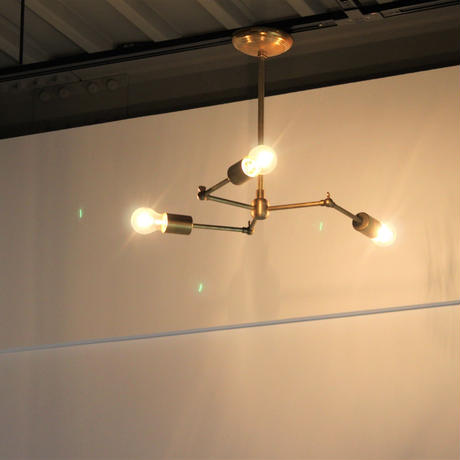 SOLID BRASS LAMP 3ARM