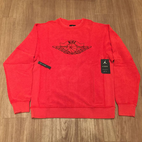 ☆UNIONコラボ - NIKE JORDAN × UNION NRG VAULT AJ FLIGHT CREWNECK