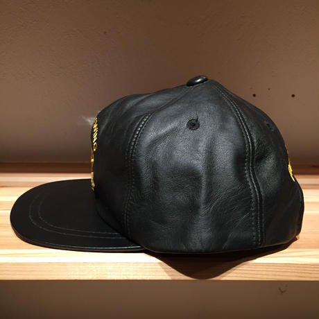 ☆1990's EARLY -【VINTAGE】PATRICK EWING LEATHER GOLD LOGO CAP