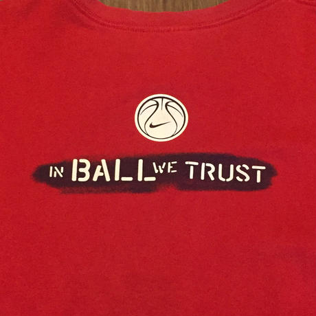 ☆1990's LATE・アメリカ製 -【USED】NIKE IN BALL WE TRUST TEE