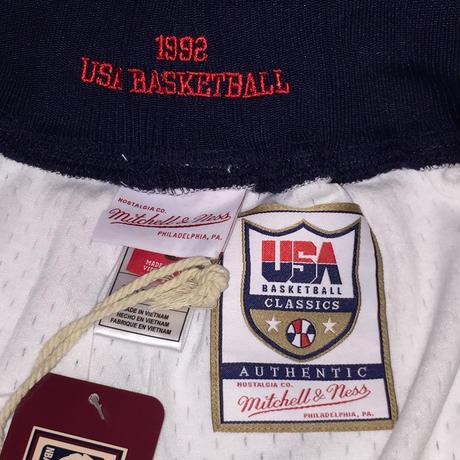 MITCHELL&NESS NBA USA BASKETBALL SHORTS 92 HOME