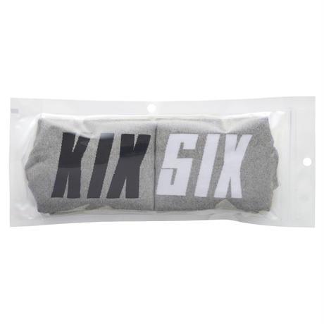 KIXSIX LOGO STRIPE SOX 2P (GREY & BLACK / GREY & WHITE)