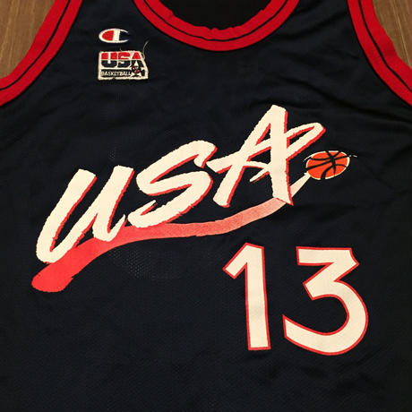 ☆1990's MID・アメリカ製 -【VINTAGE】CHAMPION USA DREAM TEAM #13 O'NEAL REPLICA JERSEY