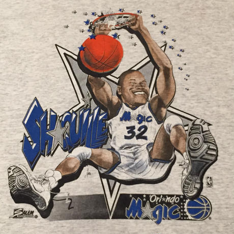 ☆1990's EARLY~MID・アメリカ製 -【VINTAGE】SALEM ORLANDO MAGIC #32 SHAQUILLE O'NEAL TEE