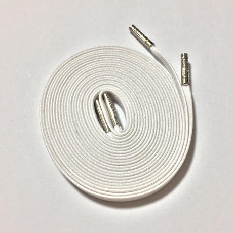 KIXSIX WAXED SHOELACE (CAPSULE) - WHITE
