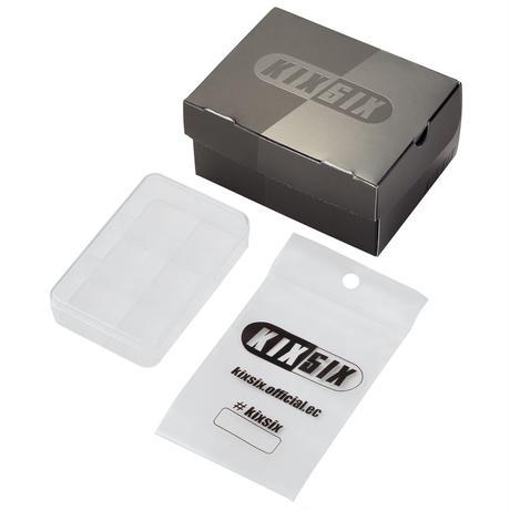 KIXSIX WAXED SHOELACE 2P BOX - BLACK-WHITE/GOLD
