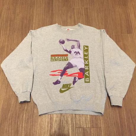 ☆1990's EARLY・日本製 -【VINTAGE】【USED】NIKE BARKLEY MUSCLE BRAINS RESPECT SWEAT