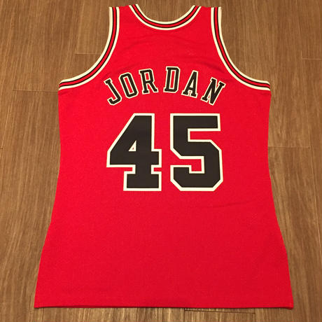 MITCHELL&NESS BULLS #45 JORDAN AUTHENTIC JERSEY AWAY