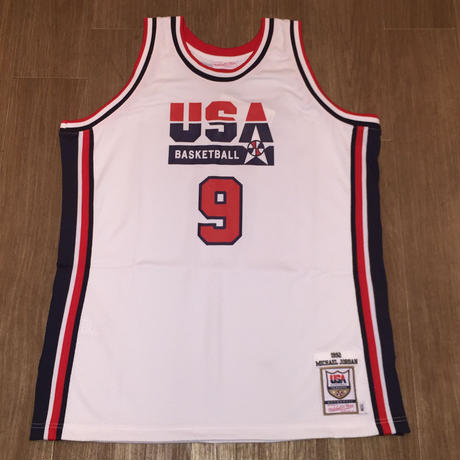 MITCHELL&NESS NBA AUTHENTIC JERSEY TEAM USA 92 MICHAEL JORDAN HOME