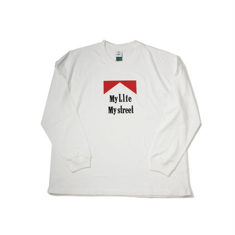 """My LIfe over size Long TEE"" WHITE"