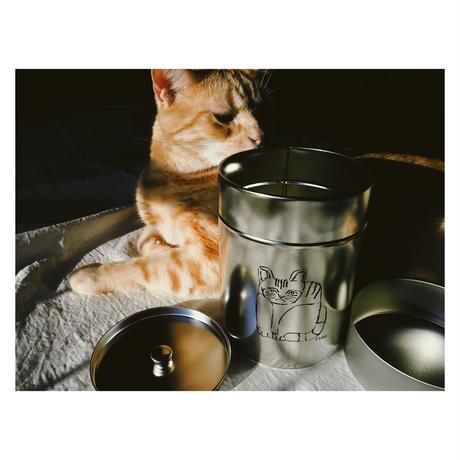 """Boîte à thé pour chat """"猫の茶筒"""""""