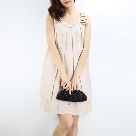 【アウトレット】パールチェーン&リボン付ドレス_0111294