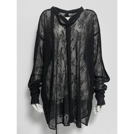 BL01-01 ストレッチレースベースボールシャツ 02 BLK