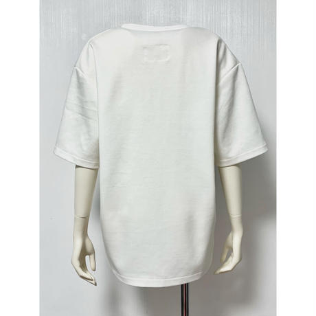 CS04-01 ギンガムレース刺繍Tシャツ 01 WHT