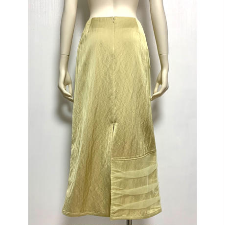 SK03-01 チュールレイヤーサテンスカート 01 YBG