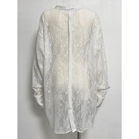 BL01-01 ストレッチレースベースボールシャツ 01 WHT