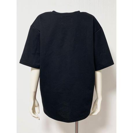 CS04-01 ギンガムレース刺繍Tシャツ 02 BLK