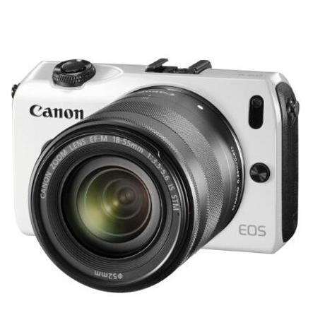 Canon ミラーレス一眼カメラ EOS M レンズキット EF-M18-55mm F3.5-5.6 IS STM付属 ホワイト EOSMWH-18-55ISSTMLK