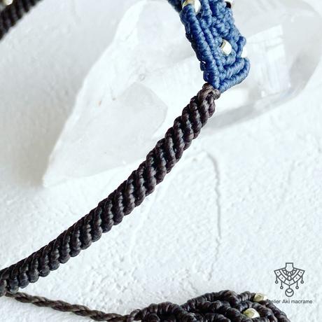 【マクラメジュエリー】意志を強くする天然石 ソーダライト / ブレスレット