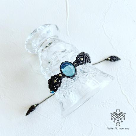 【マクラメジュエリー】透明度バツグン!アクアマリン / ブレスレット