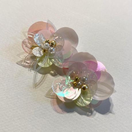 ピンクスパンコールのお花
