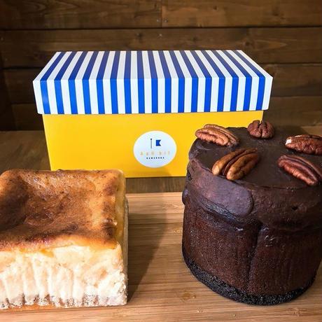 ギフトボックス入アボカドチョコケーキ・チーズケーキセット