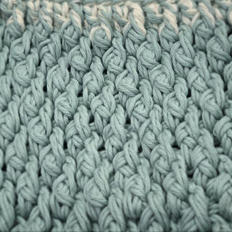 木立模様のグラデーションミニバッグ-編み図データのみ-