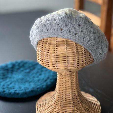 3時間で編める透かし模様のベレー帽 -編み図データのみ-