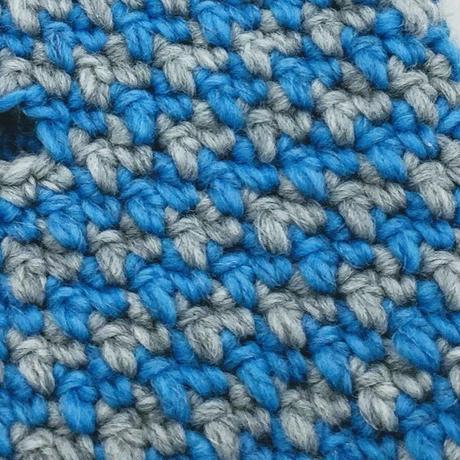 千鳥格子のハンドウオーマー -編み図データのみ-