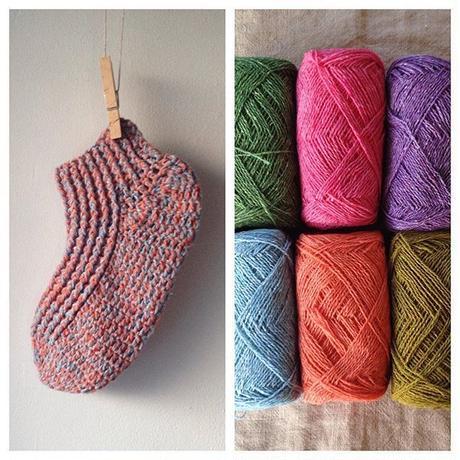 糸を切らずに編める簡単かぎ針編みのくつした -編み図データのみ-
