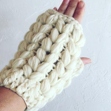 変わり玉編みのハンドウオーマー -編み図データのみ-