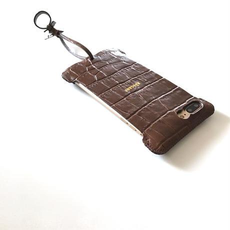 【abiwork】iPhone7 Plus sj  クロコ型押しジャケット