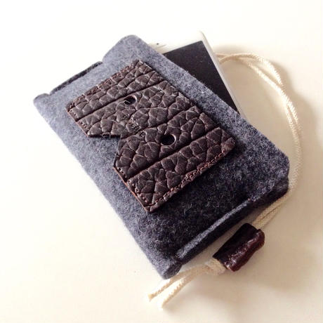 iPhone6 felt&Leather sleeve case