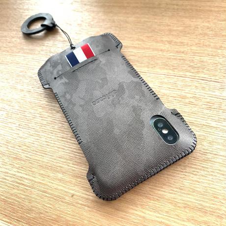 【受注製作】iPhone XS ガンメタ迷彩リボンジャケット