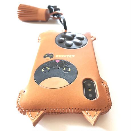 【限定品】iPhoneX&XS用/黒猫好きのアビケース