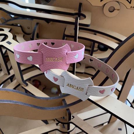 【受注制作】abicaseDogCollar/aiboの首輪/フランスゴートレザー(ハート)