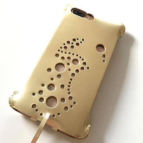 1点物【abiwork】iPhone7 Plus sj  林檎印ゴールドジャケット