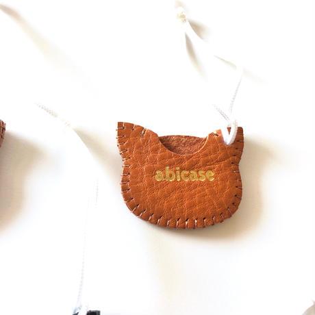 シンプルタイプのネコインチャーム/猫ヘッド(500円玉入れ)