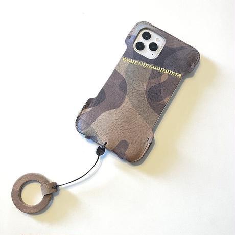 【1点物】 iPhone12Pro & iPhone12 用/伊カモフラ・シンプルジャケット