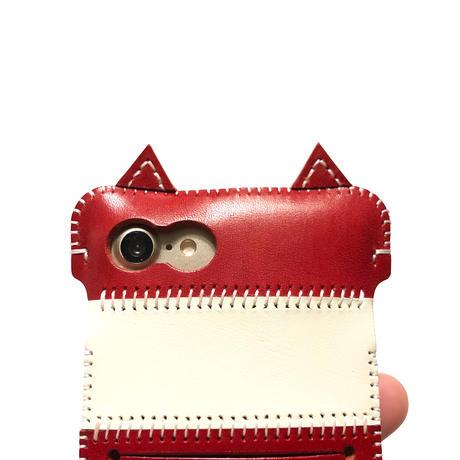 【1点物】iPhone SE2020(7&8もOK)猫ウォレットジャケット